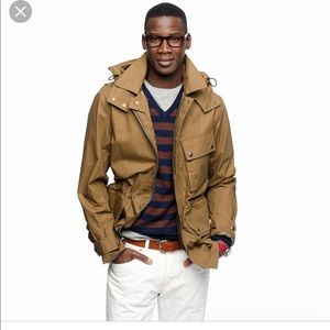 J.crew stonewall jacket with detachable hood sz.m